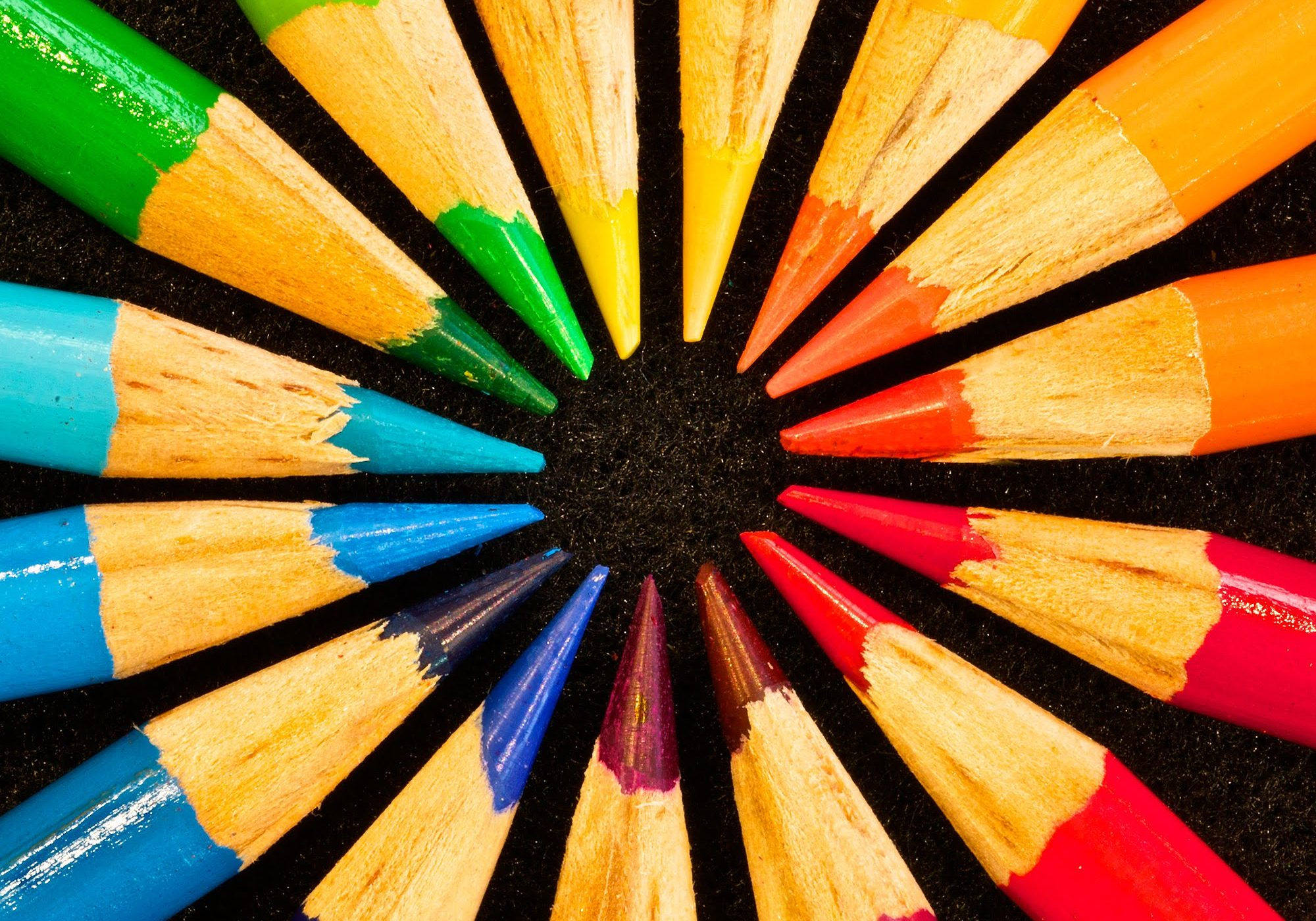 A Colored Pencil Color Wheel